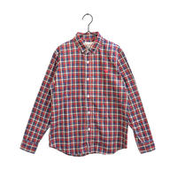 weac.(ウィーク)PUGCHAN SHIRTS パグちゃんシャツ レディース 赤チェック