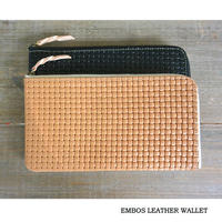 MARINEDAY FLAT-3 EMBOS LEATHER WALLET