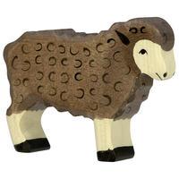 Holztiger / Sheep, standing, black