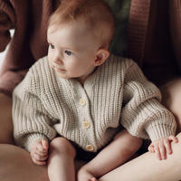 MILLE baby   MERINO 'EVERYDAY' CARDIGAN / MILK