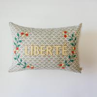 CSAO・Embroidered Cushion * LIBERTE  1 グリーン