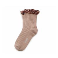 Collegien  /   Liberty Ruffle Ankle Socks  ・Petite Taupe