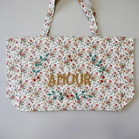CSAO・Kossiwa bag embroidered  * AMOUR  レッド×ゴールド