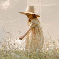 Marbles Dress - Hay Plaid Linen・18-24M/3-4Y