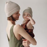 MILLE baby   MERINO 'EVERYDAY' BEANIE / MILK