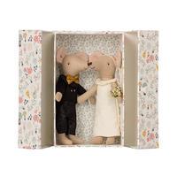 Wedding mice couple in box ネズミのハッピーウェディング