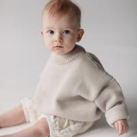 MILLE baby   MERINO 'EVERYDAY' SWEATER / MILK