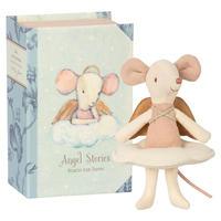 Maileg    ANGEL MOUSE BIG SISTER IN BOOK  * おねえちゃんネズミ/ブック/エンジェル