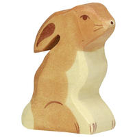 Holztiger / Hare, sitting
