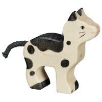 Holztiger /Cat, small, black and white