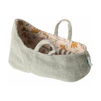 Maileg    Carry cot  * 赤ちゃんネズミのキャリーコット/ダスティーグリーン