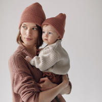 MILLE baby   MERINO 'EVERYDAY' BEANIE / CLAY