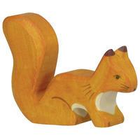 Holztiger /Squirrel, standing, orange