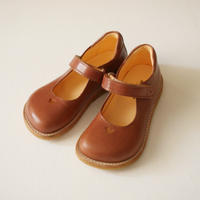 ANGULUS・MARY JANES WITH HEART AND VELCRO CLOSURE