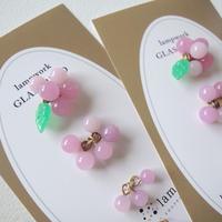 Dangling Grapes Set /Quilt leaf (col.ローズピンク)