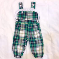 801.【USED】cotton Lace Plaid Rompers