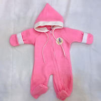 850.【USED】Hot pink Hood Rompers