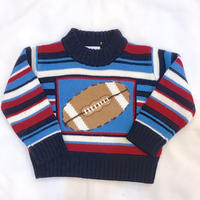 835.【USED】American Football Knit Sweater