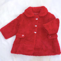 856.【USED】Red FakeFur Coat