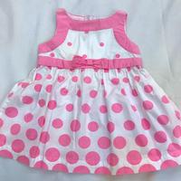 188.【USED】Pink Dot Ribbon Dress