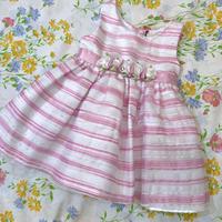 【12mos】Pink Flower Formal Dress 97.