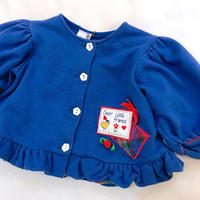 1015.【USED】Blue Puff sleeve  Cardigan