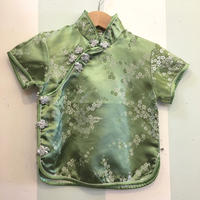 180.【USED】Green China Short Sleeve Shirts