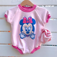 """1099.【USED】""""Minnie Mouse"""" Sox Set!Rompers"""