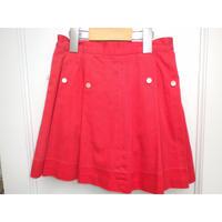 170.【USED】Vintage 50's Red Pleat Skirt