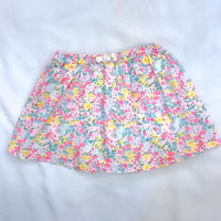1506.【USED】Flower Skirt Pants