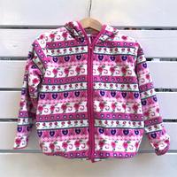 900.【USED】Flower pink  Fleece Paker.