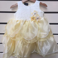 100.【USED】Yellow Flower Formal Dress