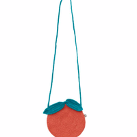 【Oeuf】Clementine Purse-Apricot/Teal