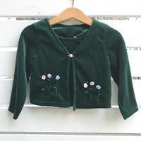 934.【USED】Dark Green Flower Tops