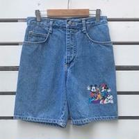 666.【USED】Mickey Mouse Denim Short  pants(MADE IN U.S.A.)