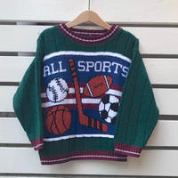 402.【USED】Sports Motif  Knit sweater
