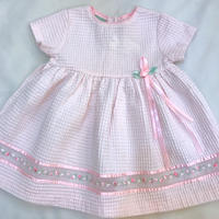 1114.【USED】See Through Embroidery Dress