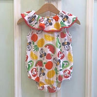 634.【USED】Minnie Mouse Fruits Rompers