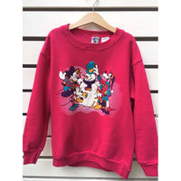 "126.【USED】""MICKEY"" winter motif pink sweat( made in U.S.A.)"