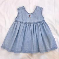 """804.【USED】""""T""""Volume Denim  Dress(made in U.S.A.)"""