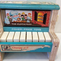 """191.【USED】Vintage """"Fisher-price"""" Change a Tune Piano(Made in U.S.A.)"""