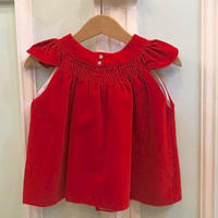 401.【USED】Red velours Dress