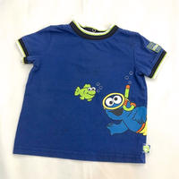 1344.【USED】Swimming COOKIE  MONSTER T-shirts