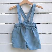936.【USED】Light Blue Suspender short Pants