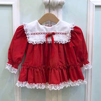 400.【USED】Red Frill Frill Dress