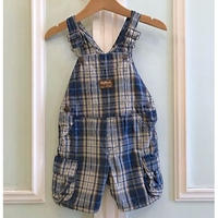 584.【USED】Blue Check  Overall