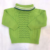 834.【USED】Green Turtleneck Knit Sweater