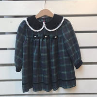 466.【USED】Check Ribbon Dress