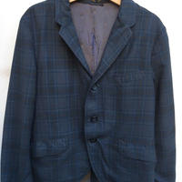 441.【USED】Vintage check print formal jacket