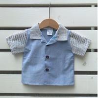 542.【USED】Blue Cotton Shirts